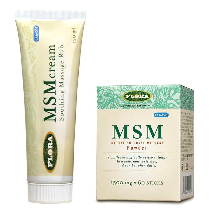 【送料無料】松の樹液の成分から生まれた有機イオウが主成分の塗るタイプの「MSMクリーム